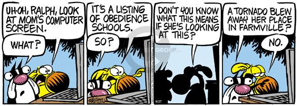 Comic Strip Mike Peters  Mother Goose and Grimm 2010-09-27 means