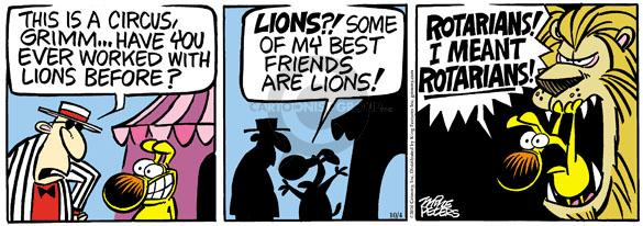 Comic Strip Mike Peters  Mother Goose and Grimm 2010-10-04 lion