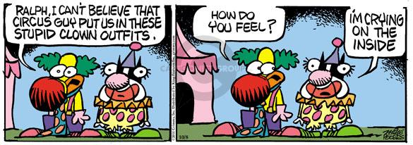 Comic Strip Mike Peters  Mother Goose and Grimm 2010-10-08 cry