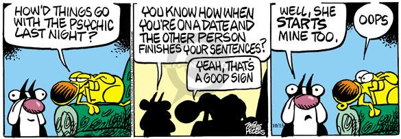 Comic Strip Mike Peters  Mother Goose and Grimm 2010-10-15 sentence
