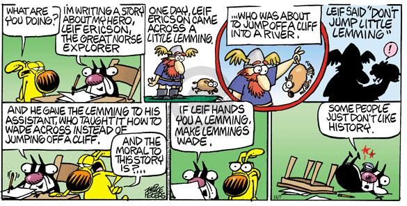 Comic Strip Mike Peters  Mother Goose and Grimm 2010-11-07 writing