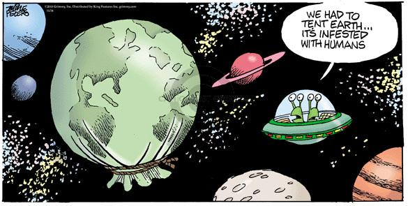 Comic Strip Mike Peters  Mother Goose and Grimm 2010-11-14 extraterrestrial