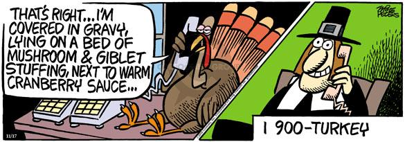 Comic Strip Mike Peters  Mother Goose and Grimm 2010-11-17 Thanksgiving