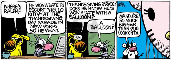Comic Strip Mike Peters  Mother Goose and Grimm 2010-11-22 Thanksgiving tradition