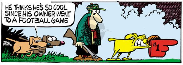 Comic Strip Mike Peters  Mother Goose and Grimm 2010-12-07 hunting dog