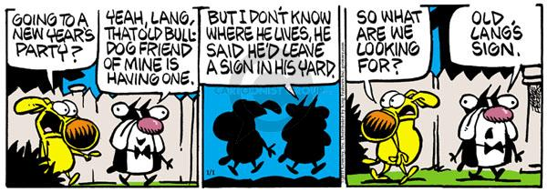 Comic Strip Mike Peters  Mother Goose and Grimm 2011-01-01 tradition
