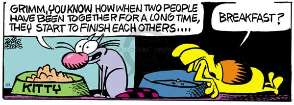 Comic Strip Mike Peters  Mother Goose and Grimm 2011-01-03 sentence