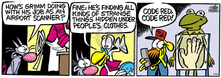 Comic Strip Mike Peters  Mother Goose and Grimm 2011-01-12 clothes