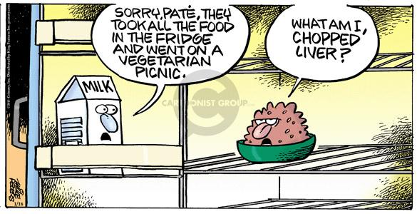 Comic Strip Mike Peters  Mother Goose and Grimm 2011-01-16 refrigerator