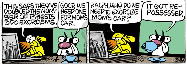 Comic Strip Mike Peters  Mother Goose and Grimm 2011-01-21 ritual