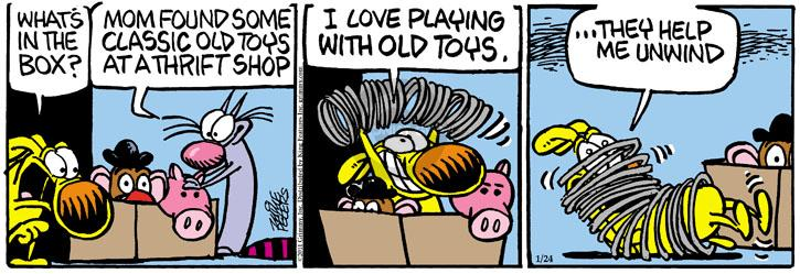 Comic Strip Mike Peters  Mother Goose and Grimm 2011-01-24 playing
