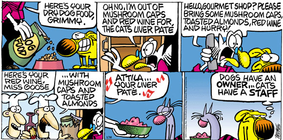 Comic Strip Mike Peters  Mother Goose and Grimm 2011-01-30 cat