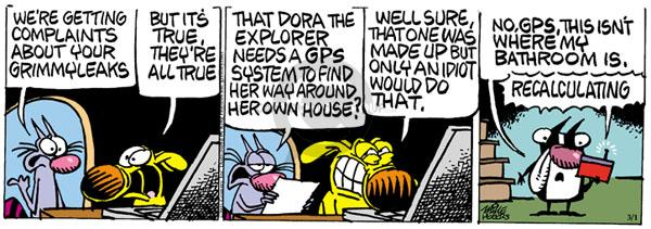 Comic Strip Mike Peters  Mother Goose and Grimm 2011-03-01 idiot