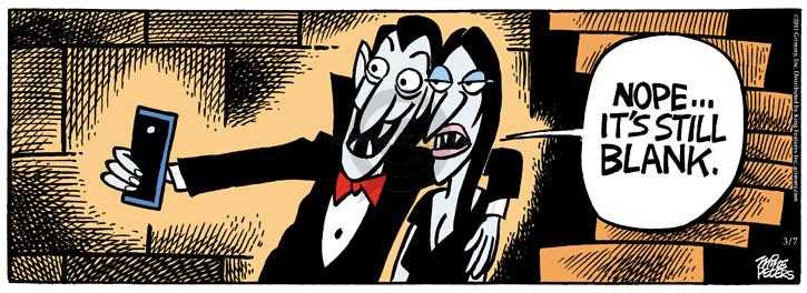 Cartoonist Mike Peters  Mother Goose and Grimm 2011-03-07 vampire