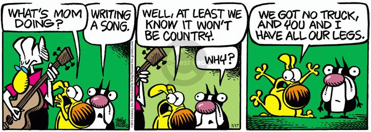 Comic Strip Mike Peters  Mother Goose and Grimm 2011-03-17 writing