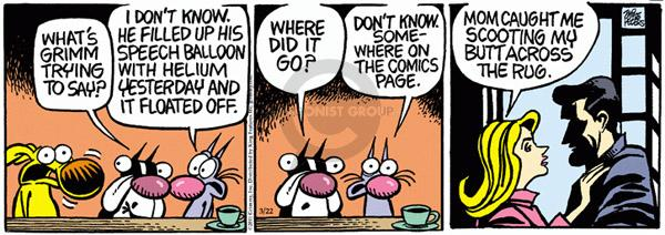 Cartoonist Mike Peters  Mother Goose and Grimm 2011-03-22 yesterday