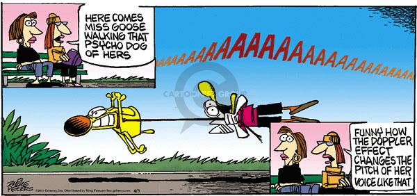 Comic Strip Mike Peters  Mother Goose and Grimm 2011-04-03 effect