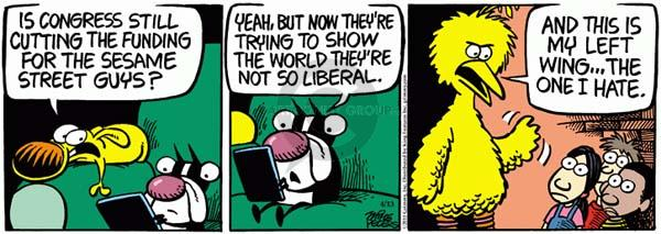 Comic Strip Mike Peters  Mother Goose and Grimm 2011-04-13 federal debt
