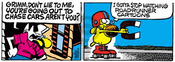Comic Strip Mike Peters  Mother Goose and Grimm 2011-04-27 playing