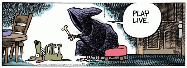 Cartoonist Mike Peters  Mother Goose and Grimm 2011-05-02 grim reaper
