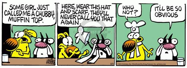 Comic Strip Mike Peters  Mother Goose and Grimm 2011-05-03 top hat
