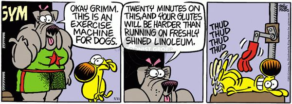 Comic Strip Mike Peters  Mother Goose and Grimm 2011-05-11 machine