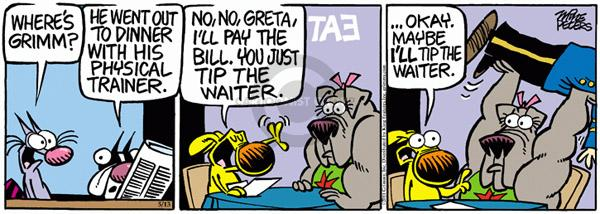 Comic Strip Mike Peters  Mother Goose and Grimm 2011-05-13 diner