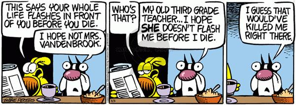 Comic Strip Mike Peters  Mother Goose and Grimm 2011-06-06 teacher