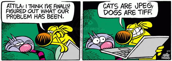 Comic Strip Mike Peters  Mother Goose and Grimm 2011-06-11 cat