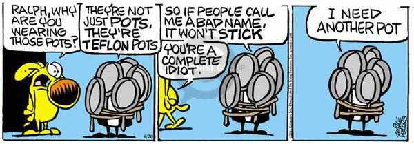 Cartoonist Mike Peters  Mother Goose and Grimm 2011-06-20 idiot