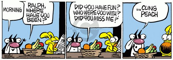 Comic Strip Mike Peters  Mother Goose and Grimm 2011-06-25 emotion