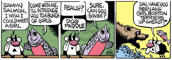 Comic Strip Mike Peters  Mother Goose and Grimm 2011-07-04 fish