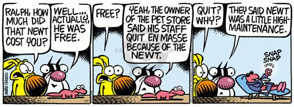 Comic Strip Mike Peters  Mother Goose and Grimm 2011-07-07 owner