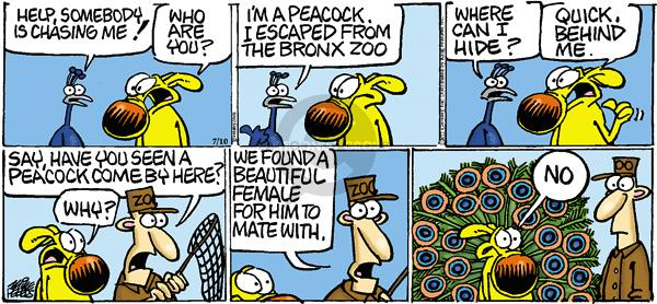 Comic Strip Mike Peters  Mother Goose and Grimm 2011-07-10 response