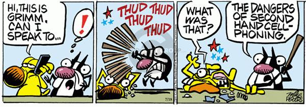 Comic Strip Mike Peters  Mother Goose and Grimm 2011-07-18 beat