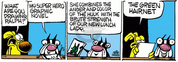 Comic Strip Mike Peters  Mother Goose and Grimm 2011-07-26 hair color