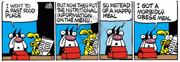 Comic Strip Mike Peters  Mother Goose and Grimm 2011-08-05 fast food meal
