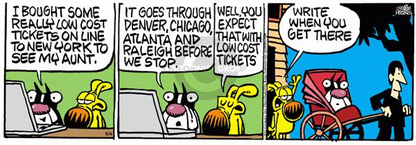 Comic Strip Mike Peters  Mother Goose and Grimm 2011-08-06 traveler