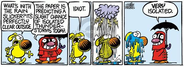 Comic Strip Mike Peters  Mother Goose and Grimm 2011-08-10 idiot