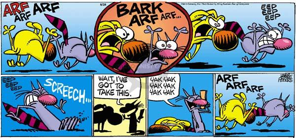 Comic Strip Mike Peters  Mother Goose and Grimm 2011-08-28 pursuit