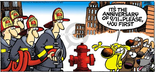 Comic Strip Mike Peters  Mother Goose and Grimm 2011-09-11 anniversary