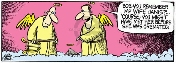 Comic Strip Mike Peters  Mother Goose and Grimm 2011-09-22 angel