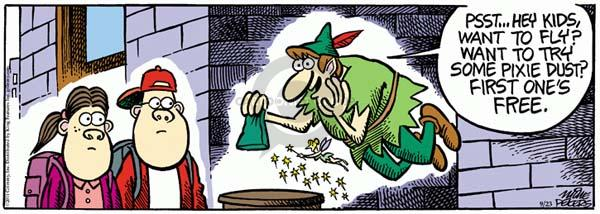 Comic Strip Mike Peters  Mother Goose and Grimm 2011-09-23 dust