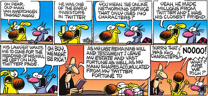 Comic Strip Mike Peters  Mother Goose and Grimm 2011-10-02 early