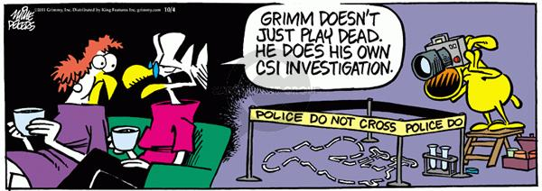 Comic Strip Mike Peters  Mother Goose and Grimm 2011-10-04 camera