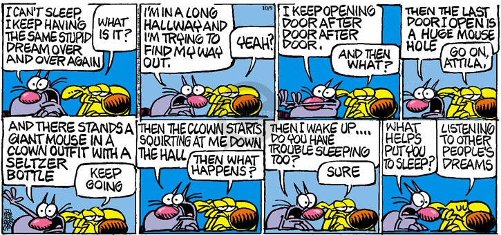 Comic Strip Mike Peters  Mother Goose and Grimm 2011-10-09 dream