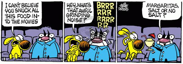 Comic Strip Mike Peters  Mother Goose and Grimm 2011-10-21 movie theater