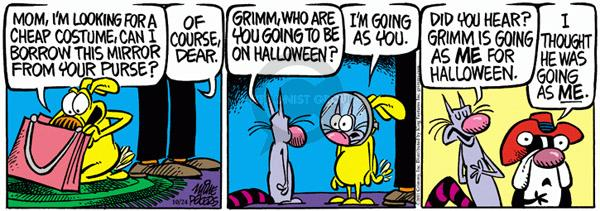 Comic Strip Mike Peters  Mother Goose and Grimm 2011-10-24 reflect