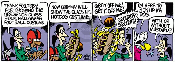 Comic Strip Mike Peters  Mother Goose and Grimm 2011-10-27 Halloween