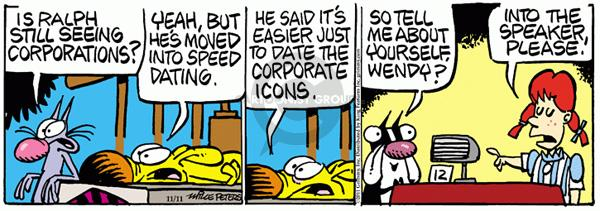 Comic Strip Mike Peters  Mother Goose and Grimm 2011-11-11 yeah
